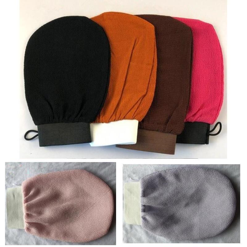 Badebürsten Hammam Scrubbing Handschuh doppelseitig Peeling Handschuhe Marokko Handtuch Peeling Peeling Peeling Peeling MITTIC Peeling Tan Entfernen Sie tot für super glatte Haut