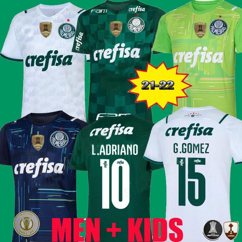 2021 2022 Camisas Palmeiras CF Soccer Jersey G.GOMEZ G.VERON L.ADRIANO RAMIRES DUDU 20 21 LIBERTADORES FINALES HOMBRES KIT DE HOMBRE Camisa de fútbol