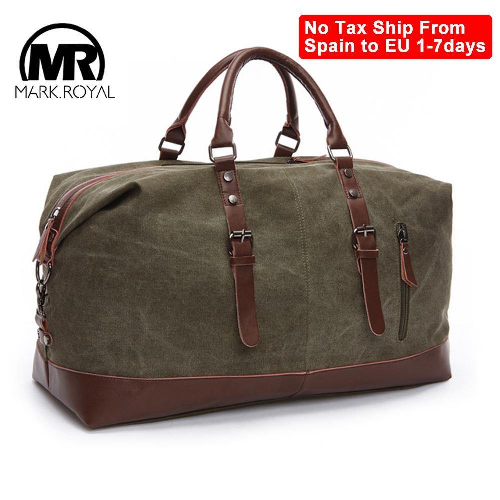Bolsas de viaje de gran capacidad de Markroyal Bolsas de lona de equipaje Bolsos de ocio bolsos de hombro a prueba de corte Overnight Travel Bags519286 210304