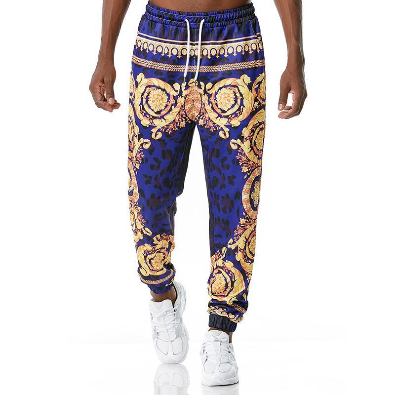 Мужские 3D печатные брюки активные спортивные Свободные тренировки бегущие спортивные штаны Мужчины фитнес трексуита повседневный тренажерный зал брюки K10