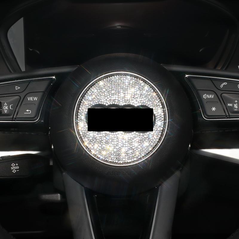 Автомобильные аксессуары Интерьерные украшения Bling для Audi Модели рулевого колеса A3 A4 A5 A6 A7 A7 Q3 Q4 TTS S5 RS RS Series и т. Д.