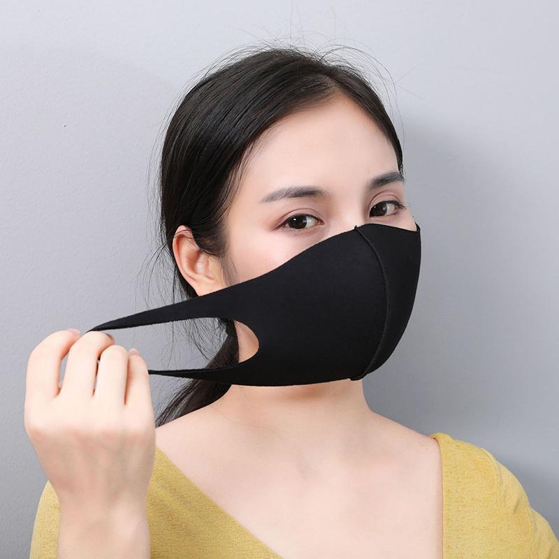 Защитная маска для лица черная хлопковая смесь анти пыль нос k-поп-рот маски мода роскошный многоразовый респиратор взрослых женщин мужские маски
