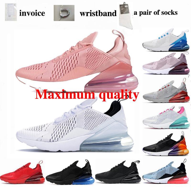 270 Sports courants Noir et blanc Rose Royal Blue Jogging Chaussures Loisirs Entraînement sportif extérieur Sports de sport Chaussures de sport Jogging Chaussures 36-46