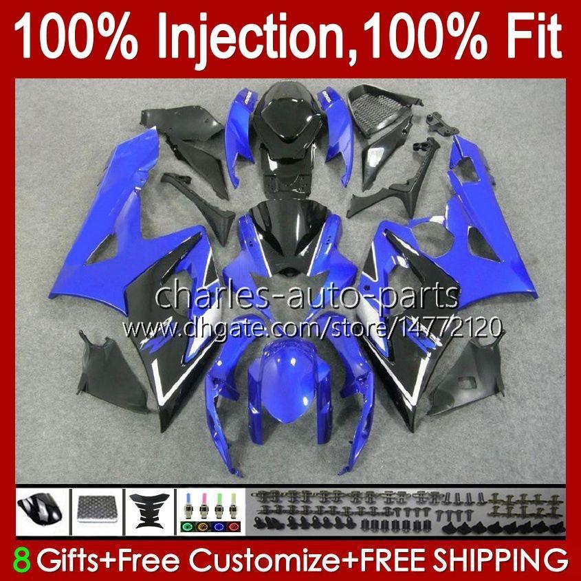 Кузов + капот Для SUZUKI GSXR-1000 GSXR 1000 05 06 Кузов 11HC.39 GSX-R1000 синий черный горячий GSXR1000 05 06 K5 GSX R1000 2005 2006 Обтекатель