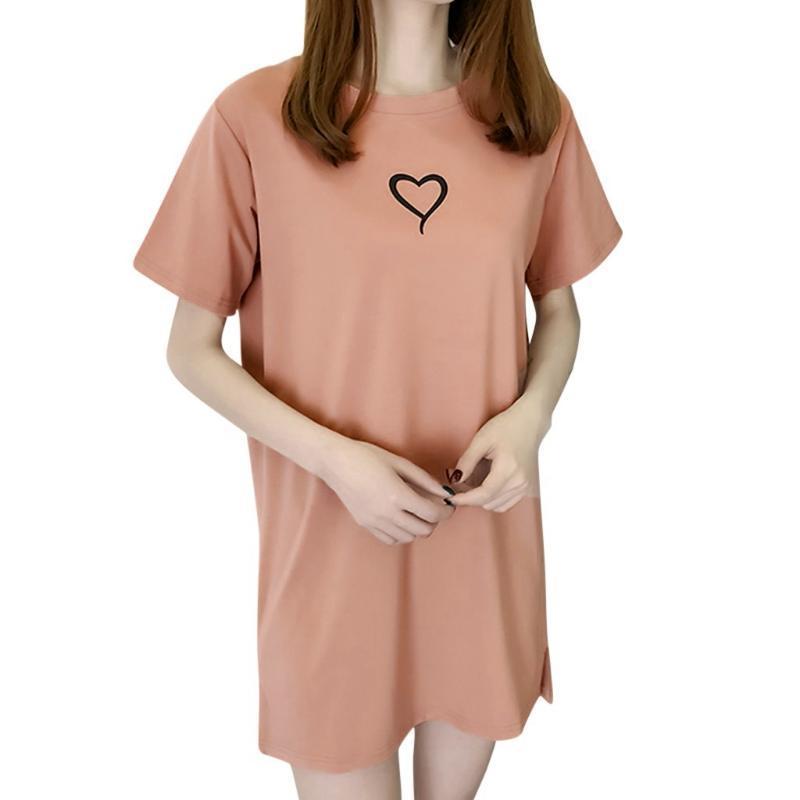 Повседневные платья плюс размер женщины лето элегантная красота печать с короткими рукавами футболки свободно мини женщина платье Vestido Mujer халат # T2P