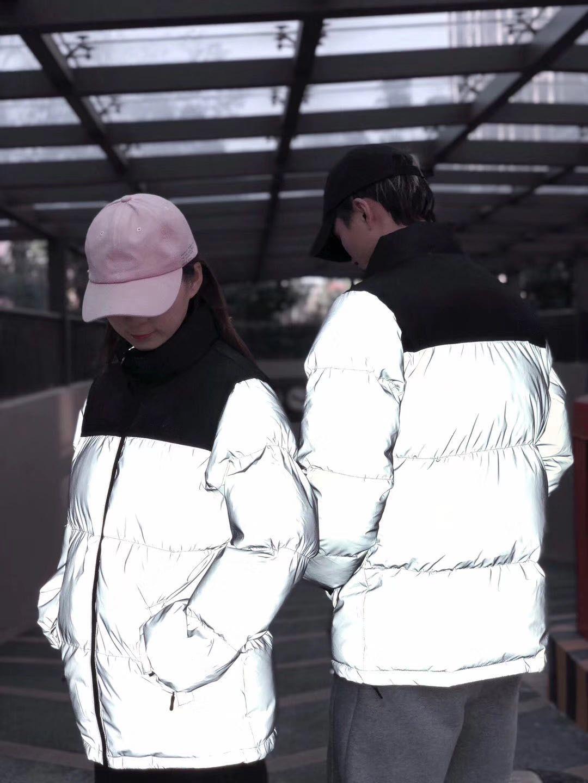 Bayan Yansıtıcı Aşağı Ceket Erkek Kış Ceket Parkas Moda Mont Yüksek Kalite Kadın Aşağı Ceket Hip Hop Streetwear Moda Tasarım JK009