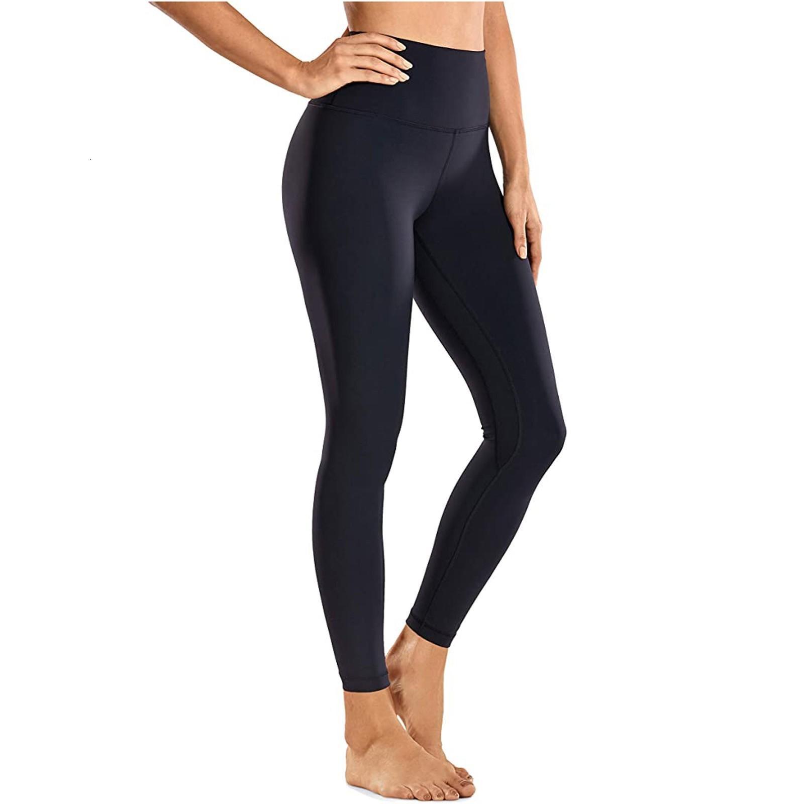 Sıcak Stil Fitness 30. # Kadınlar Leggins Çıplak Duygu Orta-Taille İhtiyaçsız Tozluk Broek Egzersiz Legging Milli Cep Bruki Kadın