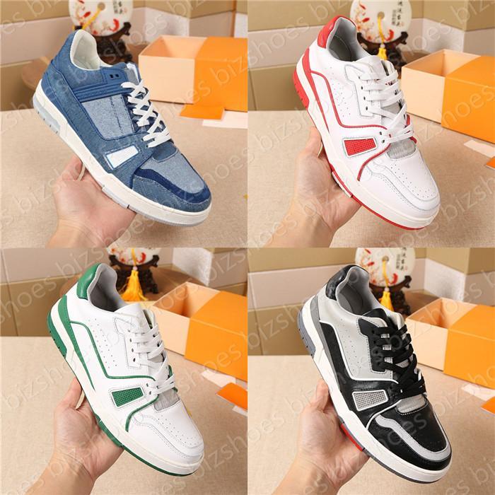 Dolaşık Sneaker Klasik Lüks Tasarımcılar Koşucu Eğitmenler Sneakers Beyaz Siyah Deri Chaussures Vintage Erkek Spor Rahat Ayakkabılar