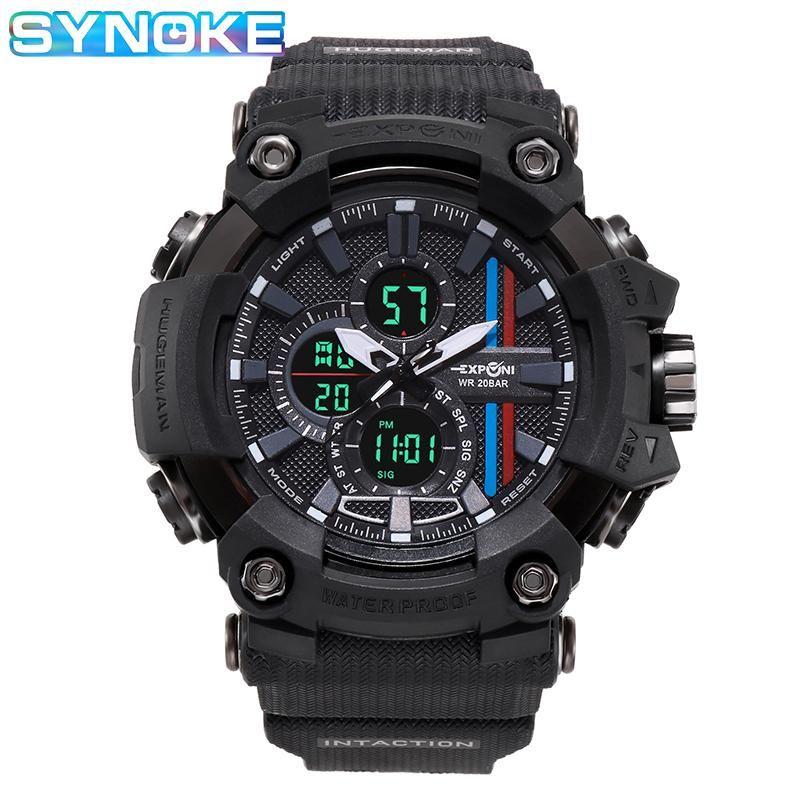 Sinuto orologi da uomo in stile Digital LED orologio da quarzo orologi sportivi per uomo impermeabile da polso da uomo Montre Homme