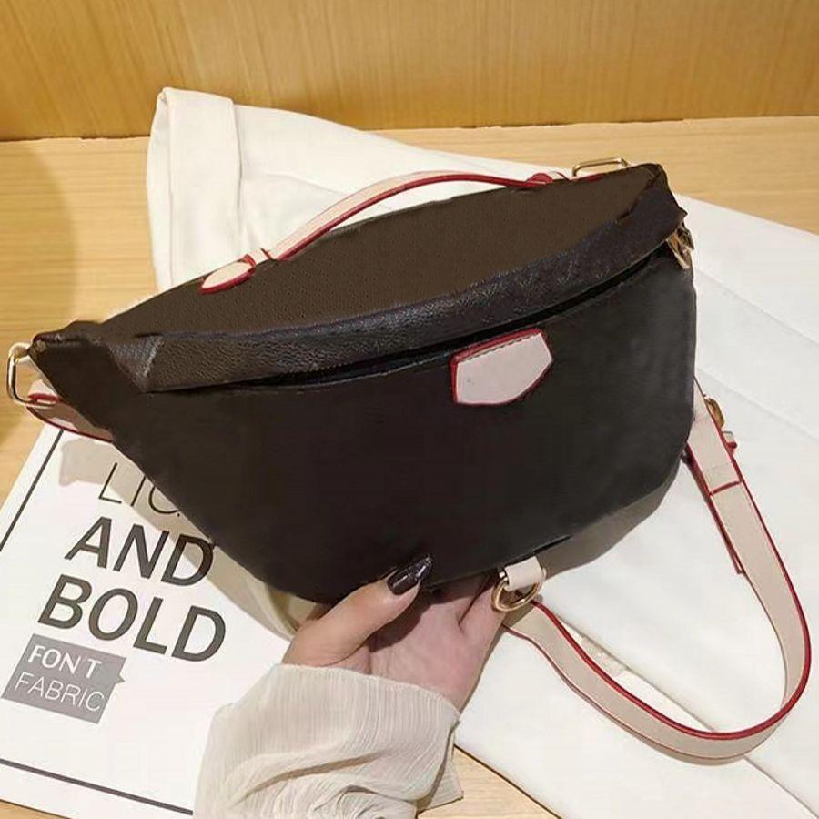 럭셔리 디자이너 허리 가방 크로스 바디 최신 핸드백 유명한 bumbag 패션 숄더 가방 갈색 bum fanny 팩 3 스타일 # 137