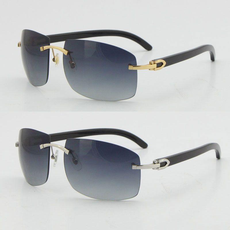 금속 무리 4189705 블랙 버팔로 경적 선글라스 UV400 렌즈 Unisex 큰 태양 안경 광학 18K 골드 브라운 C 장식 골든 프레임 남성과 여성