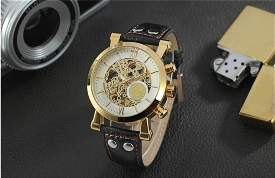 탑 판매 수상자 패션 남자 시계 망 자동 시계 기계적 시계 남자 WN49