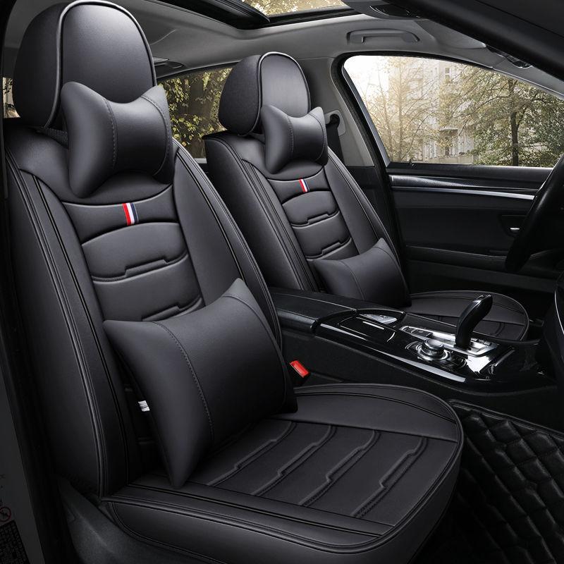 Evrensel Fit Araba İç Aksesuarlar Koltuk Sedan PU Deri Eklenebilir Beş Koltuklar SUV N002 Için Tam Surround Tasarım Koltuk Kapak