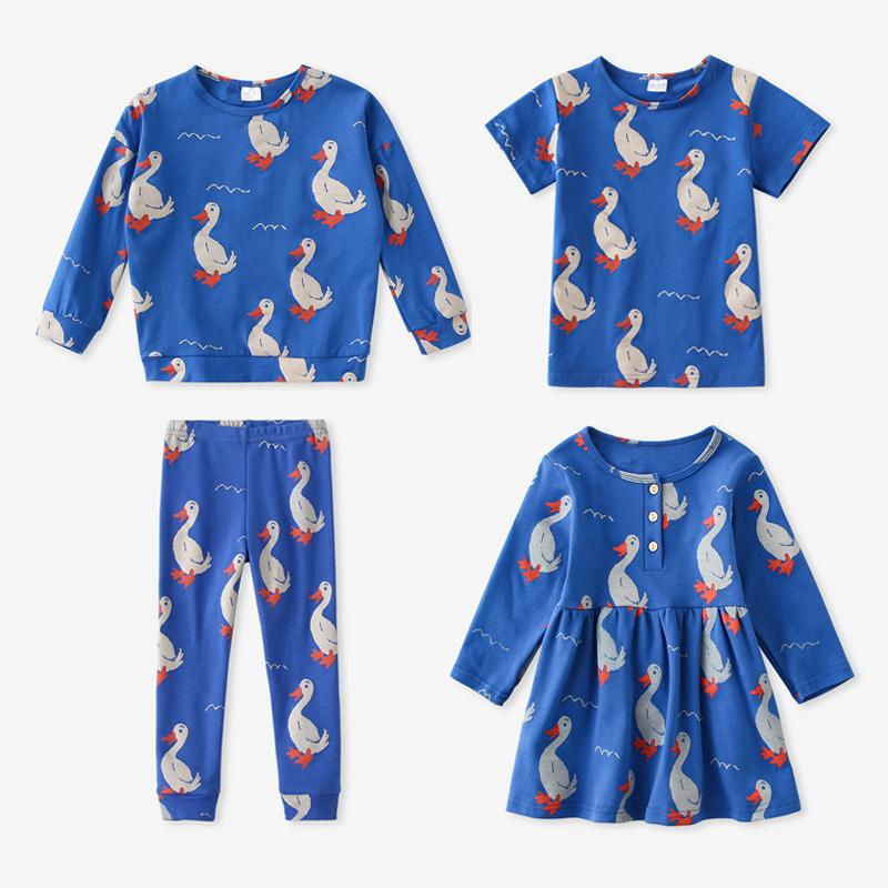 Fashion Girls Herf Winter Bébé Feu Design Robe Princesse Long Mouwen Enfants Ensembles de vêtements pour enfants enfants