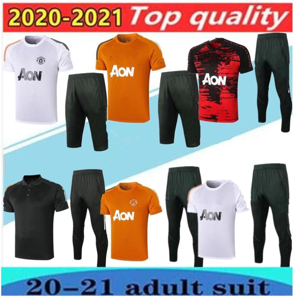 2020/21 Polo Kısa Kollu Gömlek Pantolon Futbol Eğitim Takım 20/21 Rashford Lukaku Adam Futbol Polo Gömlek Eşofman