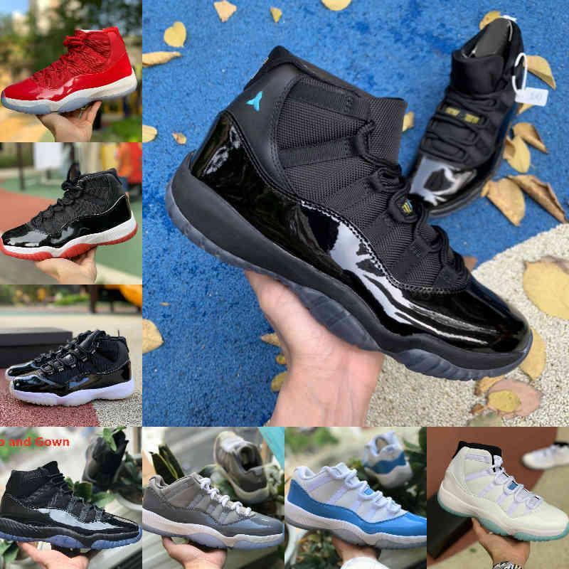 Yüksek Kalite Jubilee Pantone Bred Yüksek 11 11s Basketbol Ayakkabı Legend Mavi Jumpman Jordán Uzay Jam Gama Mavi Paskalya Concord 45 Düşük Columbia Beyaz Kırmızı Sneakers S66