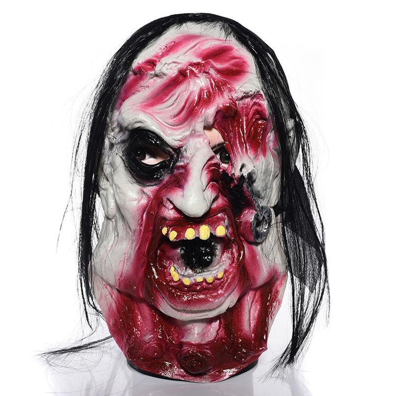 Puntelli spaventosi Zombie Maschera Halloween Mascaras de Latex Realista Rotten Cosplay Forniture per feste