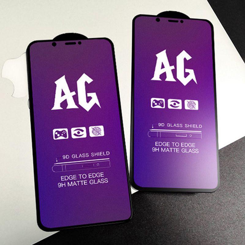 AG Matte Hermed Glass Guard Flim Anti-Blue Light Screen Protector Premium Curved Täckning Skydd Sköld för iPhone 13 Pro max 12 mini 11 xs xr x 8 7 6 6s plus se
