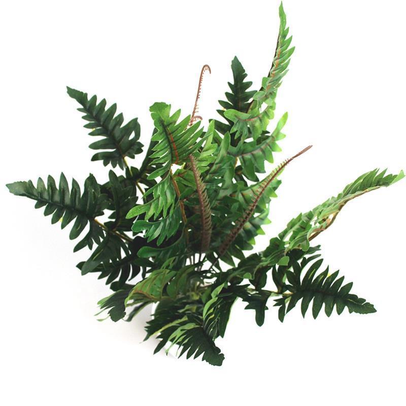 Flores decorativas grinaldas artificial planta plástica plástica arbusto falso arbusto verde festa de casamento simulação casa jardim deocr