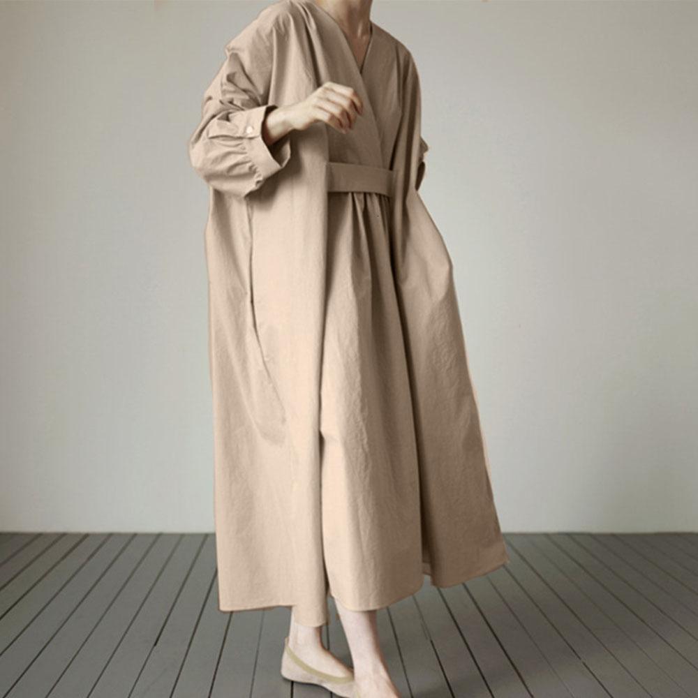 2021 Новый японский стиль длинные рукавов юбка с черной V-образным вырезом 05xy
