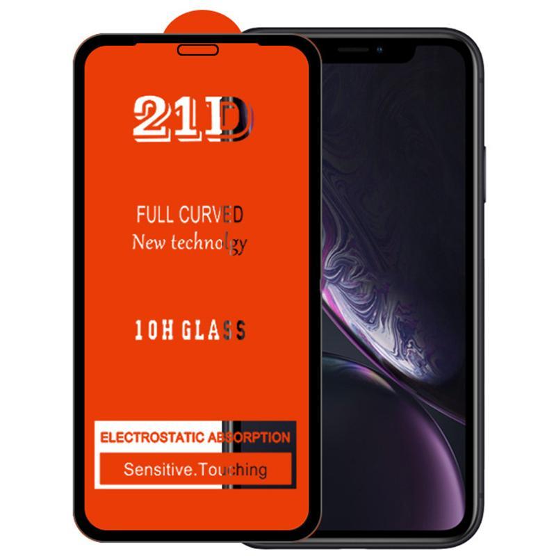 21D Tam Tutkal Ekran Koruyucu Temperli Cam Patlama Dayanıklı Kavisli Premium Kapak Guard Film Kalkanı iPhone 13 Pro Max 12 Mini 11 XS XR X 8 7 6 6 S Artı SE