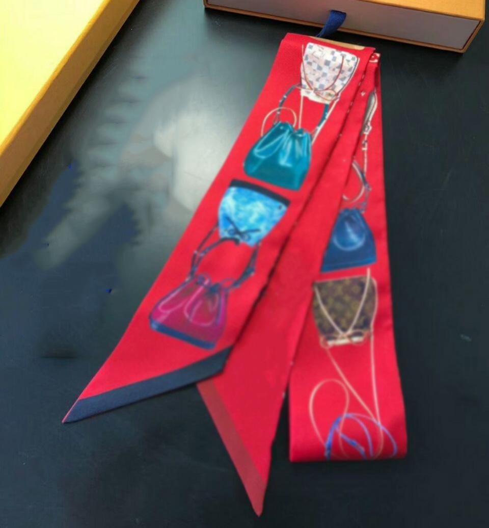 Brand Fashion Style Small Sciarpa Sciarpa Sciarpa Fashion Multi-Purost Hair Band Brand Handbag Decorazione nastro