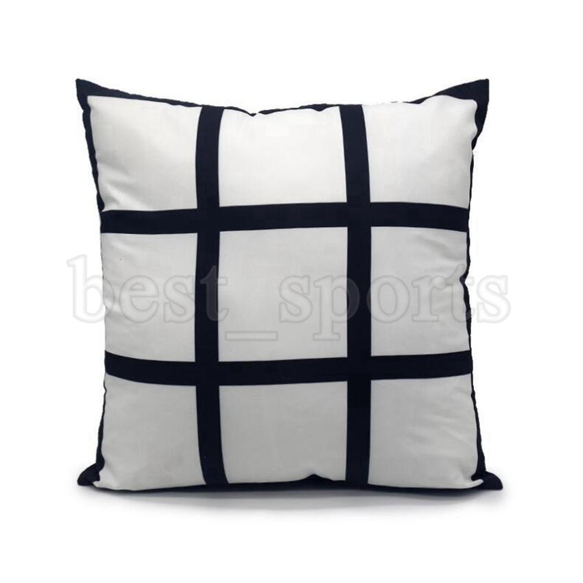 Nueva estilos de almohada de sublimación en blanco 11 estilos 40 * 40 cm rejilla Transferencia de calor Tiro de cojín CUBIERTA CASA HOGA NAVIDAD HALLOWEEN SOFA Sofá