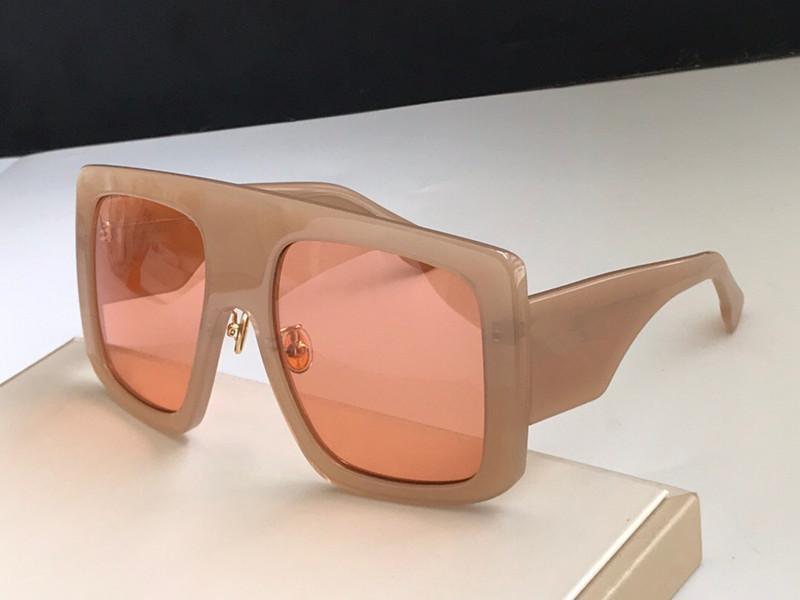 New Fashion Donne Occhiali da sole Catwaik Grande quadrato quadrato Goggles Top Quality Protezione UV Eyewear Populant Avangarde Style Power 2 con scatola