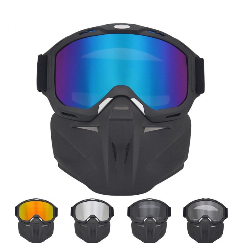 التزلج على الجليد نظارات الوجه قناع الوجه نظارات التزلج الثلوج قناع التزلج على الجليد نظارات windproof موتوكروس الشمسية في الهواء الطلق 23 x2