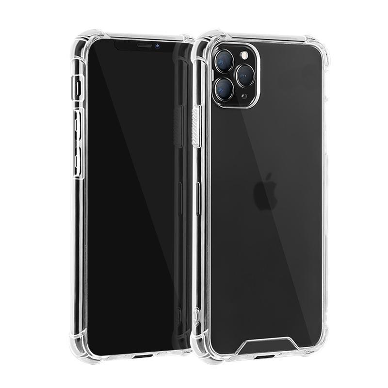 아이폰 12 11 프로 최대 XR XS 7 8 플러스 하이브리드 하드 PC 소프트 TPU 핸드폰 커버에 대한 고품질 투명 아크릴 Shockproof 클리어 케이스