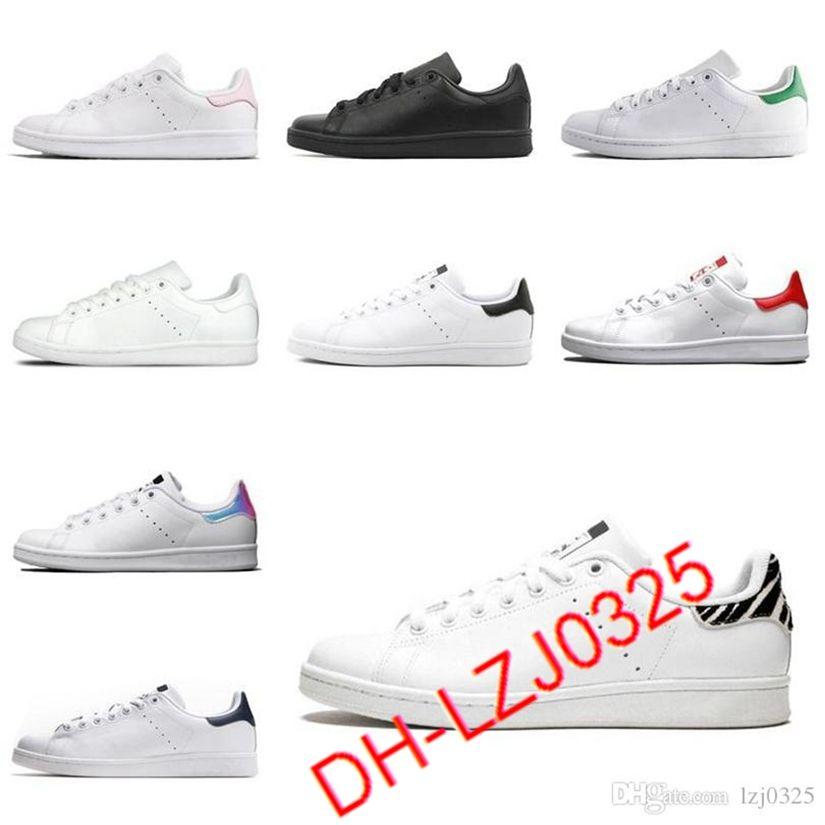 2021 botas para mujer hombres zapatos de moda Stan Smith Zapatillas de deporte Cuero Classic Flats Zapato casual Tamaño 36-45 DHX-H89