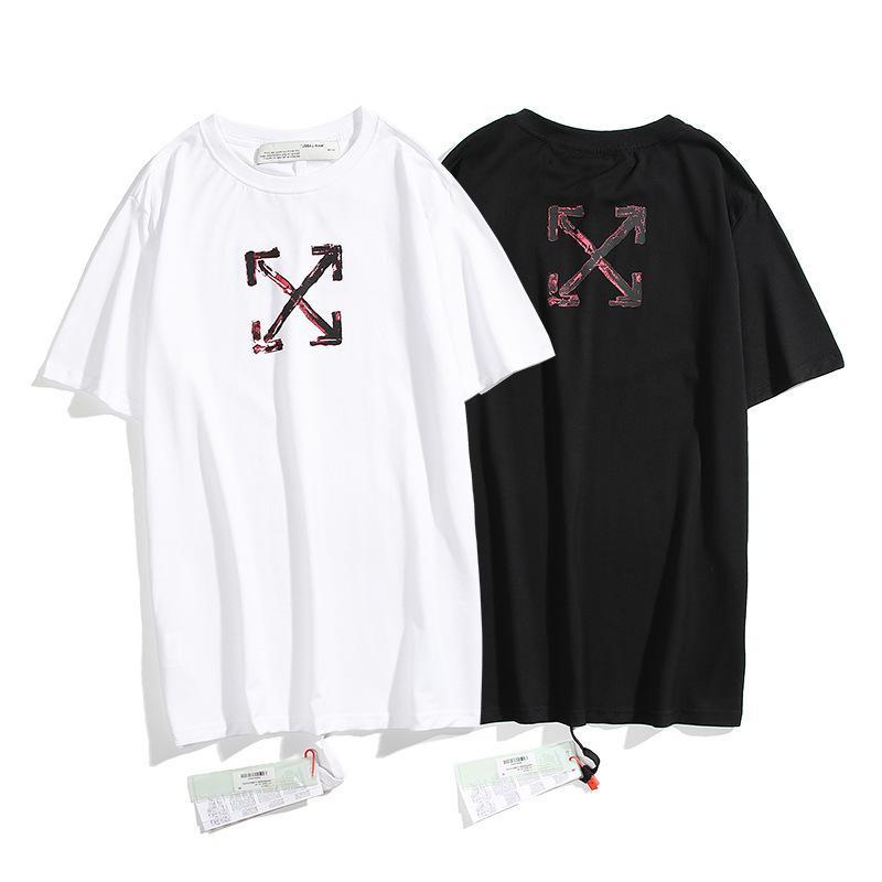 A versão correta da marca de maré em 2021 wh @ Te Arragem T-shirt de manga curta para casais
