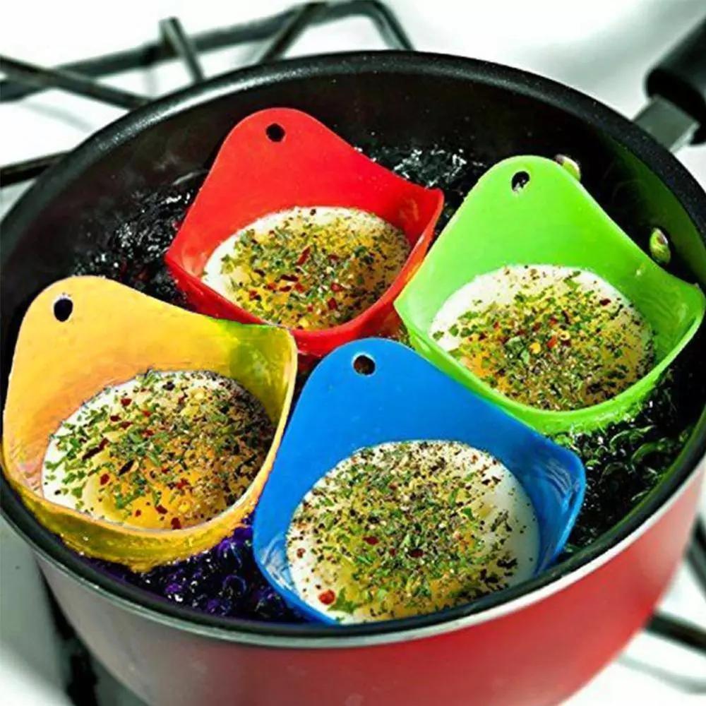 Силиконовое яйцо Poacher Cook Poach Pods Pods Bow Flush Bower Форма Яйцо Кольца Силиконовые Блинчики Кухонные Кухонные Инструменты Гаджеты WLL240