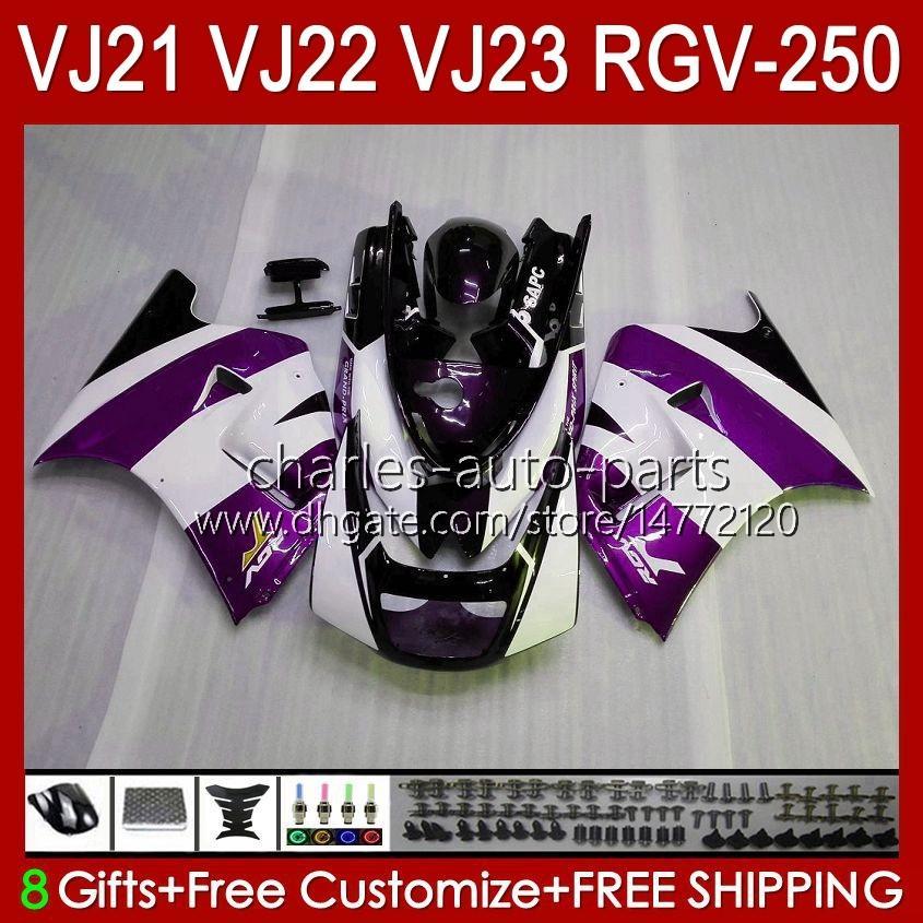 Bodys für Suzuki RGVT lila Neuer RGV 250cc 250 CC RGV-250 Panel RVG250 20HC.130 RGVT-250 90 91 92 93 1994 1996 1996 RGV250 SAPC VJ22 1990 1991 1992 1993 94 95 96 Verkleidungen