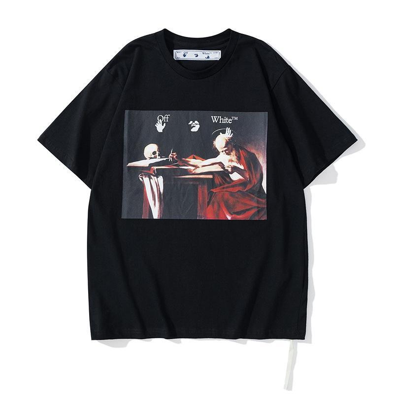 Chao Brand Summer Old Man's Skull Print T-shirt manica corta