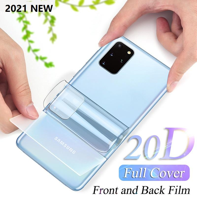 Full Cover Hydrogel Soft Film For Samsung Galaxy A20 Screen Protector S20 S21 Ultra S9 S8 S10 Note 20 10 Plus Front and back set