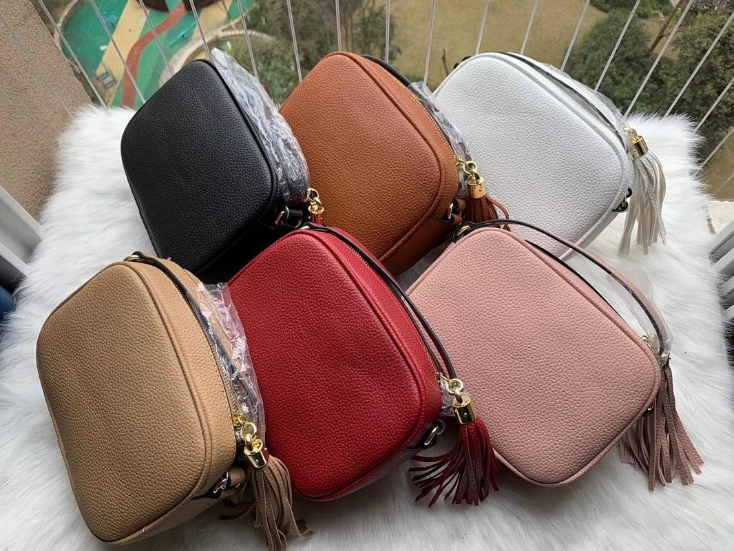 Handtasche Luxurys Tasche Brieftasche Handtaschen Tasche Schulter Leder Taschen 2021 Disco Frauen Fransen Messenger Tassel Designer Designer Soho Cross Osavu