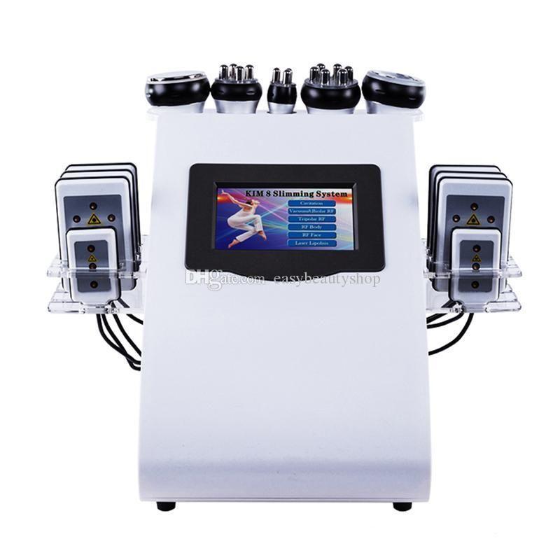 40K التخسيس شفط الدهون معدات التجميل جودة عالية بالموجات فوق الصوتية التجويف 8 وسادة فراغ العناية بالبشرة صالون SPA
