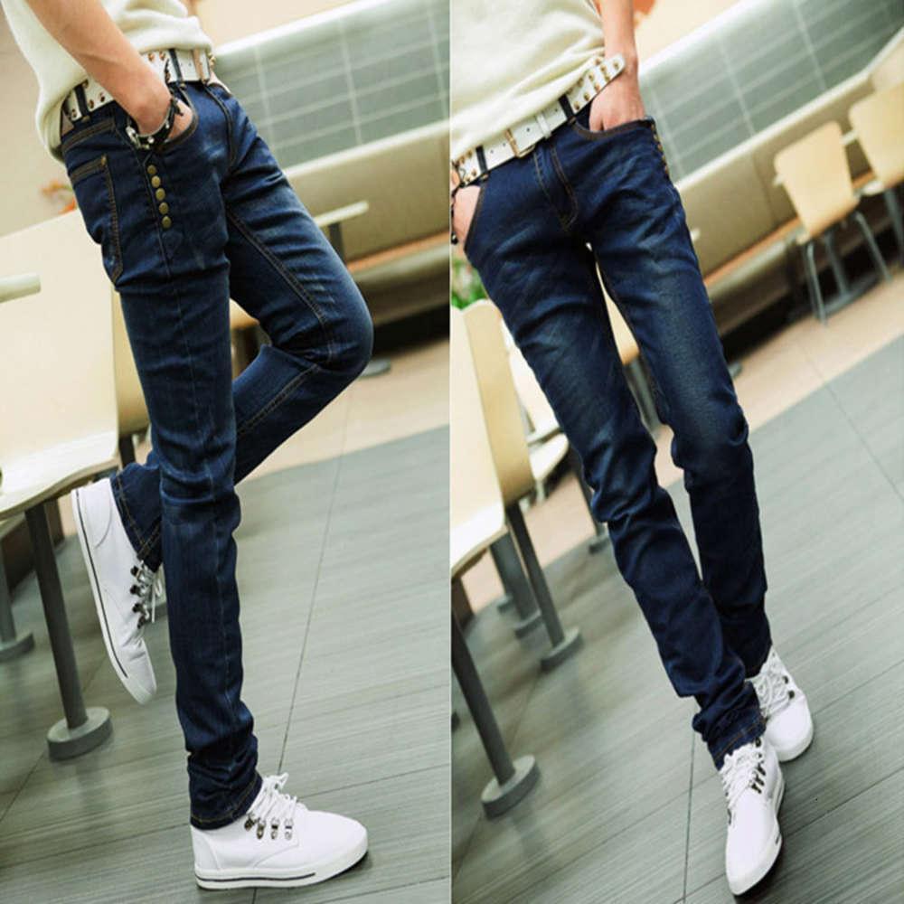 2020 мода мужская весна и осень носить корейские мужские джинсы мужские тонкие леггинсы карандаш брюки джинсы брюки