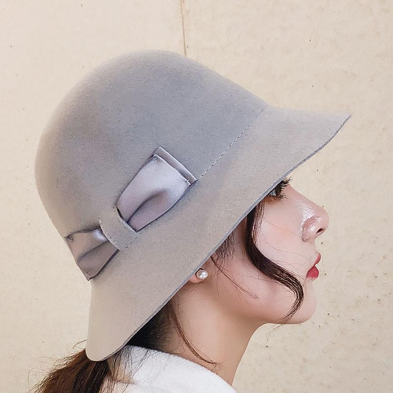 STINGY BRIM HATS SUGRY КАЧЕСТВО БРЕНДА КАЧЕСТВО Шерстяная войлока Федора осень зима женская шапка шляпа элегантный ретро леди Федорас