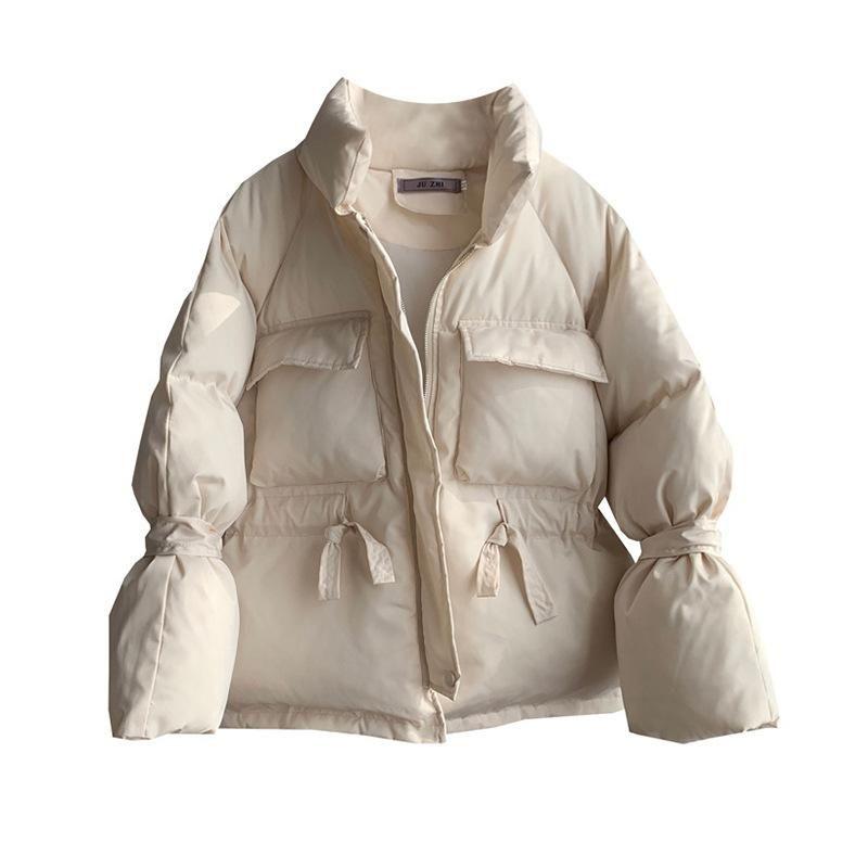 Осень зима хлопок пальто Parka женский негабаритная свободная куртка женщины уличная одежда густая теплая короткая куртка женщин плюс размер пальто