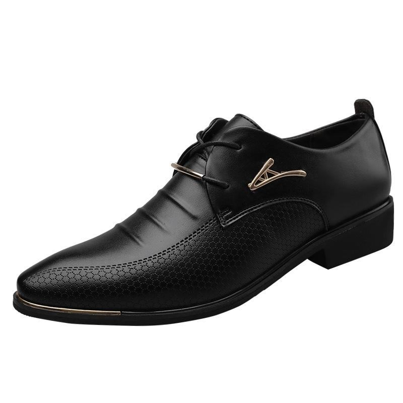 Mens Leder formale Schuhe Lace Up Kleid Schuhe Oxfords Mode Retro Schuhe Elegante Arbeit Schuhe Männer Kleid 669Dress
