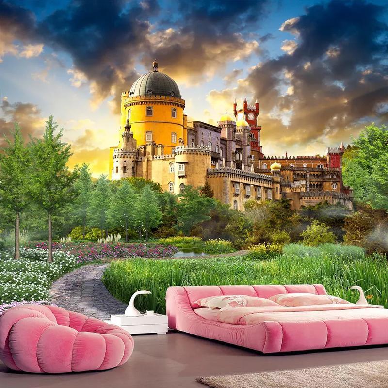 Wallpapers Custom 3D Wallpaper For Walls Castle Garden Landscape Wall Mural Po Living Room Bedroom Background Home Decor