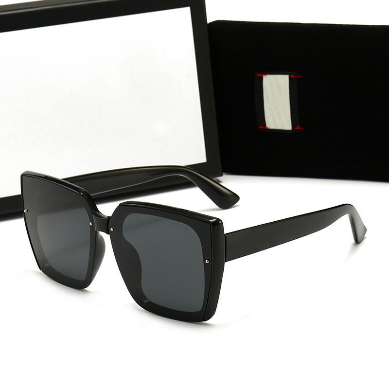 جودة عالية النظارات الشمسية أزياء مصممين العلامة التجارية مع شعار uv400 إمرأة النظارات رجل النظارات للجنسين الكلاسيكية أعلى بيع
