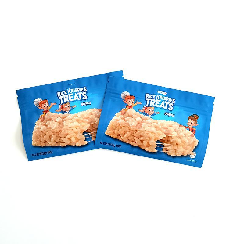 Vuoto Borsa da imballaggio commestibile Riso Krispies tratta la barra di cereali snack infusi snack snack edibles mylar borse