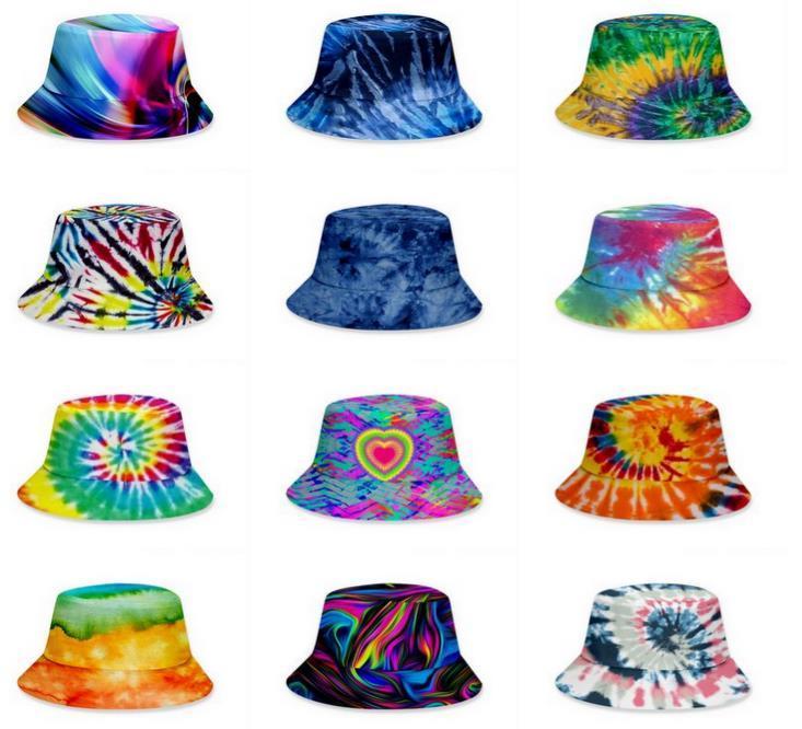 Kravat Boya Kova Şapka Adam Çocuk Kadın Yaz Visor Güneş Açık Fisher Hiphop Beach Cap 38 Renkler