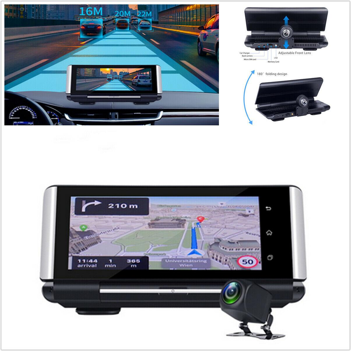 Car dvr 1080P Android 4G DVR Camera 7in Dual Lens GPS Driving Recorder For Car Dashboard
