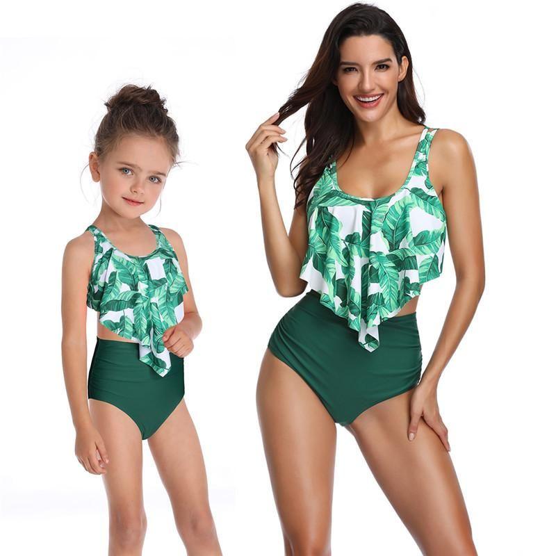 Nayooton Girls Детские купальники Двух частей Бикини набор рюшачьи костюмы купальника Falbala