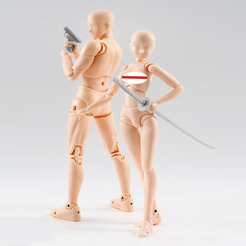 Рисование фигуры для художников Действие Модель Модель Человека Манекен Человек Женщина Комплекты Игрушка Игрушка Фигурка Аниме Фигурка Figurine C0220