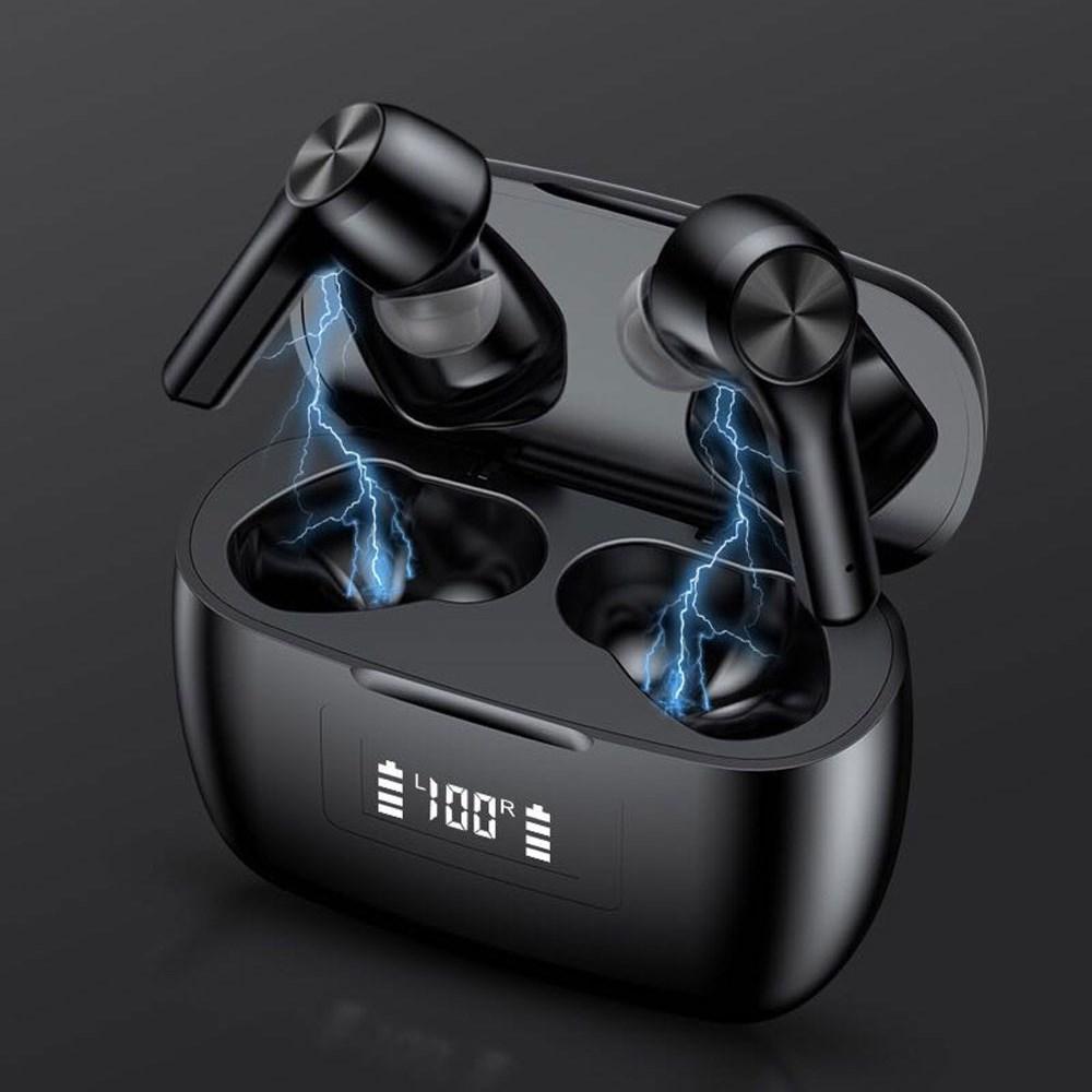 TWS Беспроводные наушники Bluetooth 5.0 Наушники водонепроницаемые спортивные стереоактивные наушники светодиодные дисплей питания Игровая гарнитура с розничной коробкой
